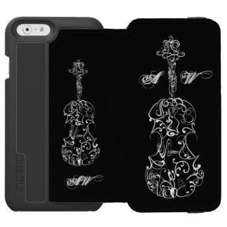 Linha branca desenho do violino em customizável