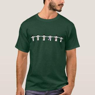 Linha camisa do pontapé de Kung Fu de T