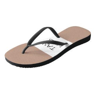 Linha chinelos de Tan