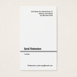 Linha cinzenta simples cartão de visita do