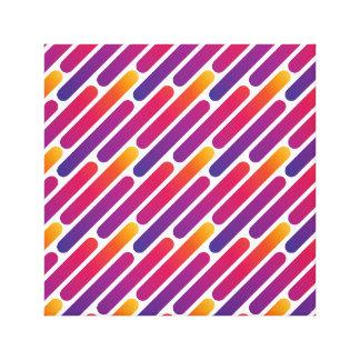 Linha colorida impressão das canvas do teste