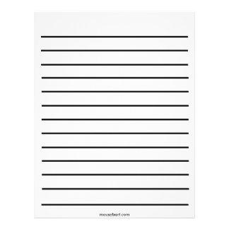 Linha corajosa papel de carta