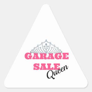 Linha da rainha da venda de garagem adesivo triangular