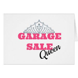 Linha da rainha da venda de garagem cartão comemorativo