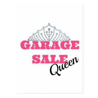 Linha da rainha da venda de garagem cartão postal
