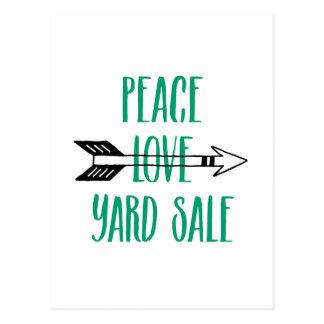 Linha da seta da venda de jardim do amor da paz cartão postal