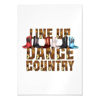Linha dança do país do T