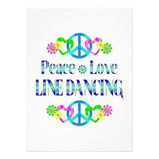 Linha de amor dança da paz convites