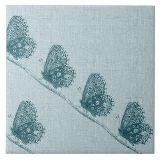 Linha de borboletas azulejos