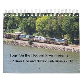 Linha de rio diesel de CSX 2018 & sub de Hudson Calendário