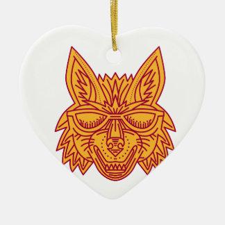 Linha de sorriso dos óculos de sol principais do ornamento de cerâmica coração
