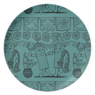 Linha design do festival do tamale da arte louças de jantar