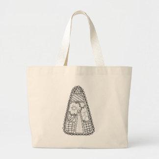 Linha design do milho de doces do mascarada da bolsa tote grande