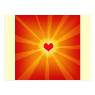 Linha do brilho da luz do amor cartão postal