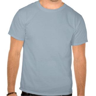 Linha do gancho e desenhos animados da pesca do tshirt
