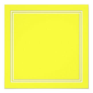 Linha dobro sombra do Pin do branco da gota no Convite Quadrado 13.35 X 13.35cm