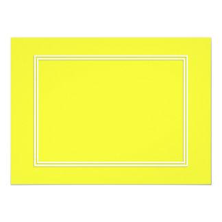 Linha dobro sombra do Pin do branco da gota no Convite 13.97 X 19.05cm