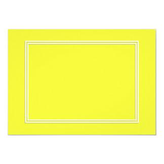 Linha dobro sombra do Pin do branco da gota no Convite 12.7 X 17.78cm