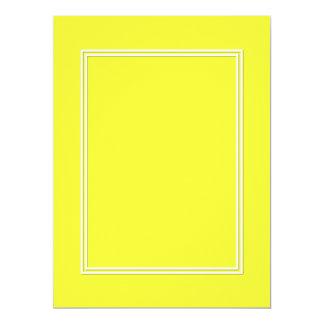 Linha dobro sombra do Pin do branco da gota no Convite 16.51 X 22.22cm
