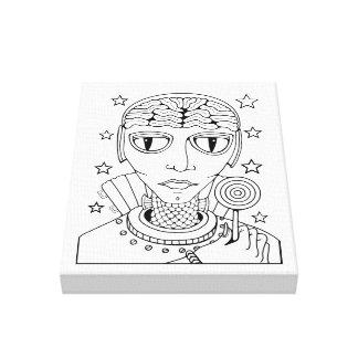 Linha estrangeira design do pirulito do mascarada