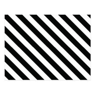 Linha geométrica preto e branco teste padrão cartão postal