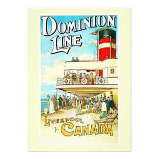 Linha Liverpool da autoridade ao vintage de Canadá Convites