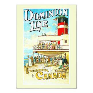 Linha Liverpool da autoridade ao vintage de Canadá Convite 12.7 X 17.78cm