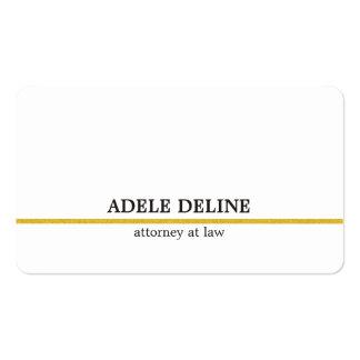 Linha minimalista advogado do ouro branco cartão de visita