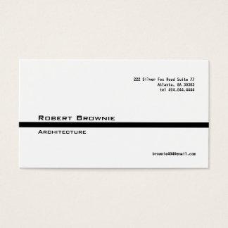 Linha preta clássica cartão de visita
