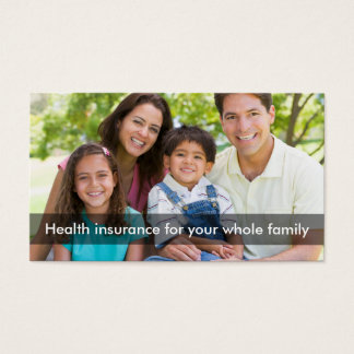 Linha representante do seguro de saúde multi cartão de visitas