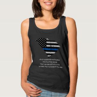 Linha-Tanque azul fino de South Carolina Regata
