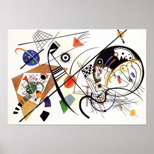Linha transversal poster de Kandinsky