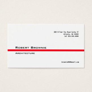 Linha vermelha clássica cartão de visita