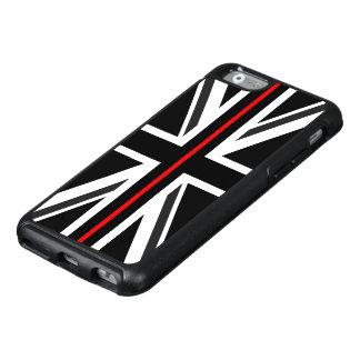 Linha vermelha fina bandeira do Reino Unido