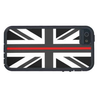 Linha vermelha fina bandeira do Reino Unido Capa Para iPhone 5