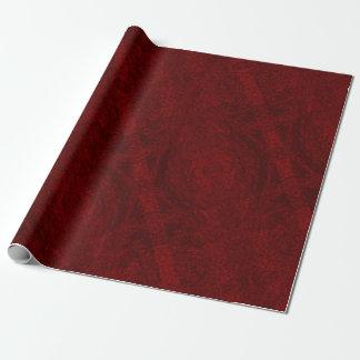Linha vermelho escuro papel de embrulho Matte 30 x
