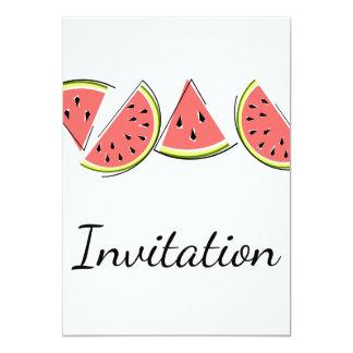 Linha vertical da melancia do convite