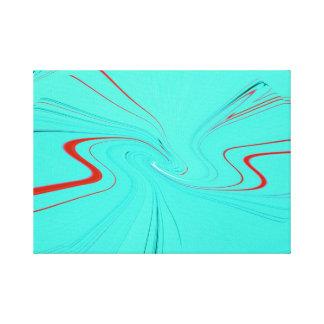 Linhas abstratas impressão de canvas envolvidas