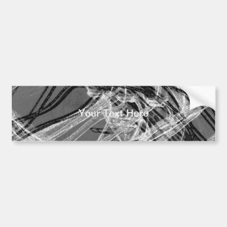 Linhas abstratas dos grafites cinzentas adesivo para carro