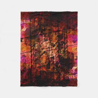 Linhas abstratas vermelho roxo dos redemoinhos da cobertor de velo