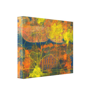 Linhas amarelas impressão das canvas