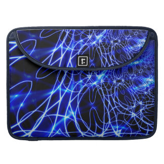 Linhas azuis da energia, flash do azul da fantasia capa para MacBook