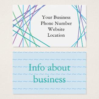 Linhas azuis modernas cartão de visita