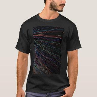 Linhas da linha de um festival do verão camiseta