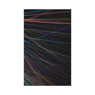 Linhas da linha de um festival do verão impressão em tela