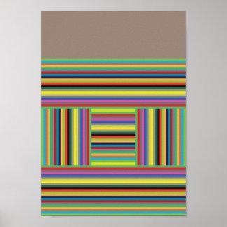 Linhas de cor poster
