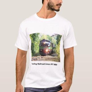 Linhas de estrada de ferro locomotiva diesel da camiseta