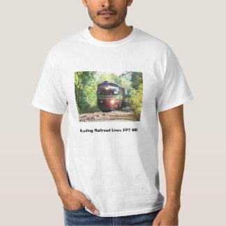 Linhas de estrada de ferro locomotiva diesel da tshirts