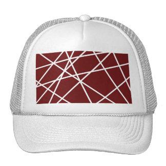LINHAS do ABSTRATO do BRANCO do chapéu do Boné