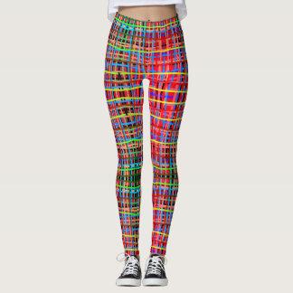 linhas em cores atrativas legging